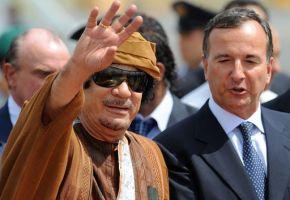 ITALY-LIBYA-DIPLOMACY-KADHAFI