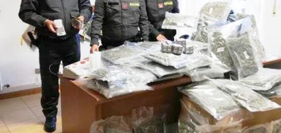 Droga, blitz GdF della Compagnia di Civitanova Marche in casolare: sequestrati marijuana e hashish