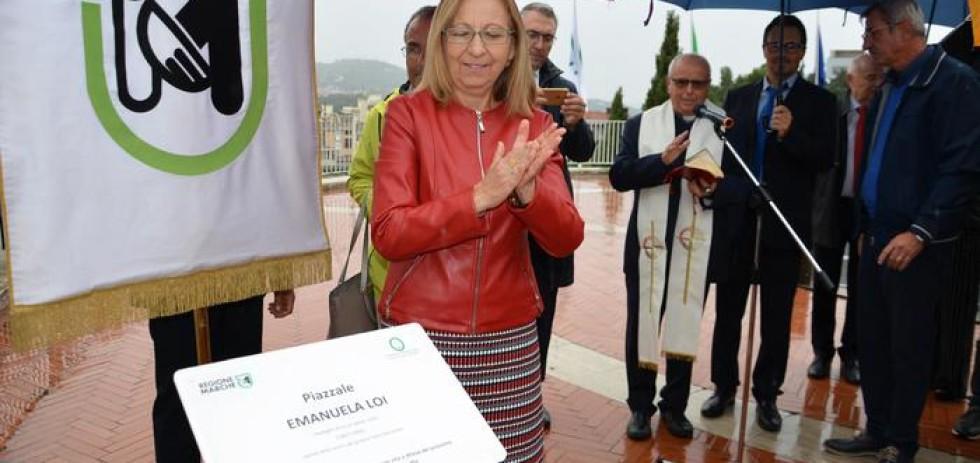 Ad Ancona inaugurato piazzale dedicato a Emanuela Loi, agente morta nella strage di via D'Amelio